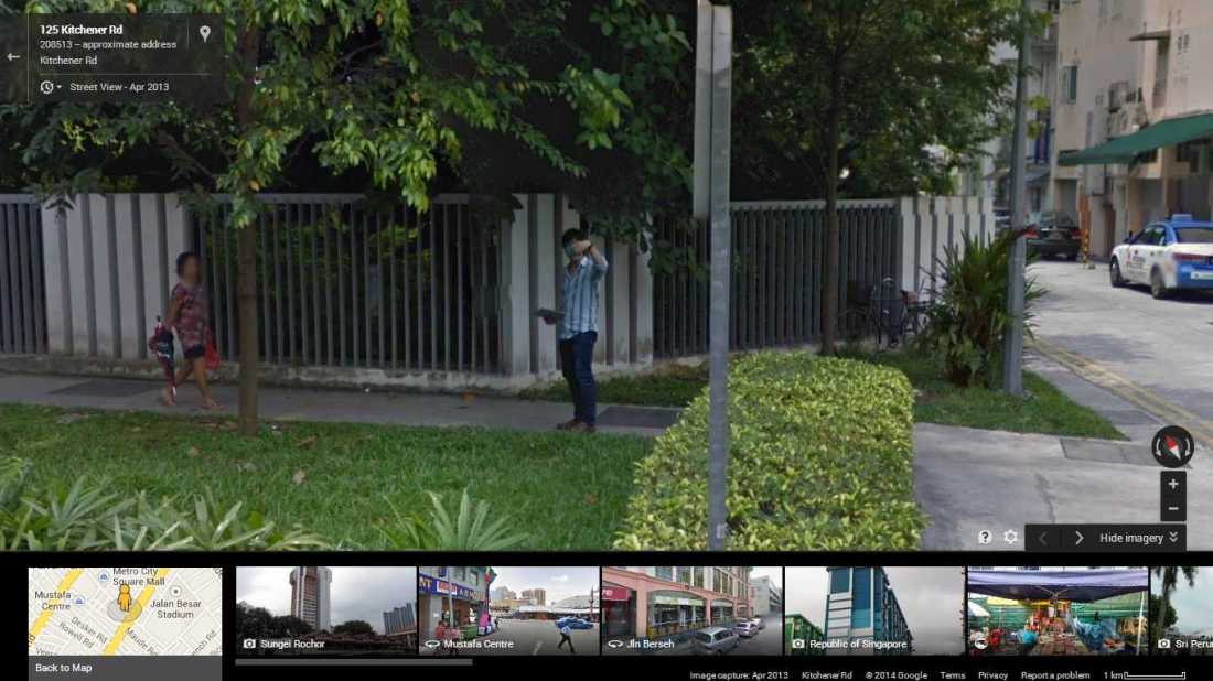 Me on Google Street View